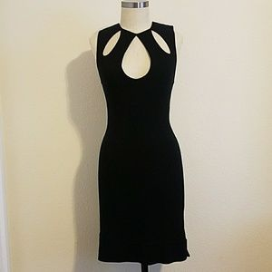 Cache Soft Modal Little Black Wiggle Stretch Dress